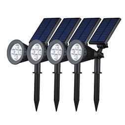 VicTsing 4 Pack Solar Spotlights,2-in-1 Waterproof Adjustabl