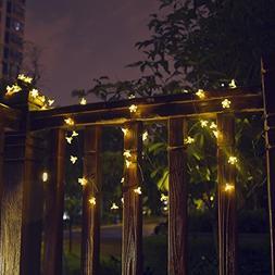 XLUX  Solar String Lights, 50 LED 22ft Flower Party Light So