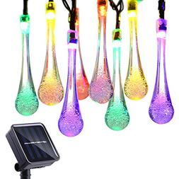 Icicle Solar Outdoor String Lights, 15.7ft 8 Light Modes 20