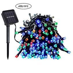 Solar String Lights | Colorful Christmas Decor Lighting for