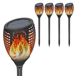 Solar Torch Lights with Flickering Flame, OxyLED Christmas L
