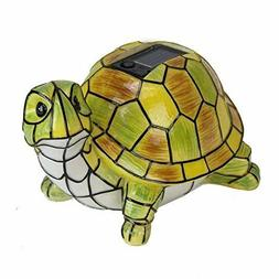 Solar Turtle Statue Hand-Painted Garden Outdoor Yard Decor L