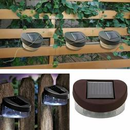 Solar Wall Mounted 2 LED Light Outdoor Garden Landscape Fenc