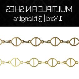 Solid Brass Decorative Geometric Motif Fixture Chain #45 |