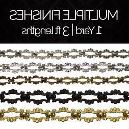 Solid Brass Decorative Ornate Motif Chandelier Light Chain #