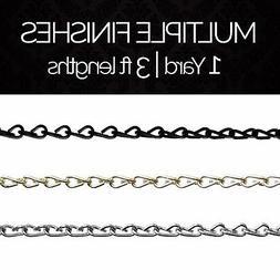 Solid Steel Decorative Double Jack Chandelier Light Chain #5