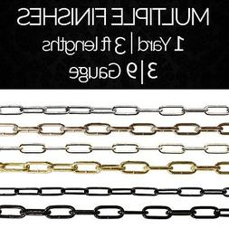 Solid Steel Decorative Large Oval Link Lighting Chain #59 |