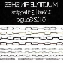 Solid Steel Decorative Spanish Link Pendant Light Chain #58