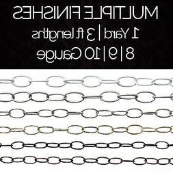Solid Steel Decorative Standard Link Lighting Chain #56L |