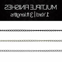 Solid Steel Decorative Twist Link Lighting Hanging Chain #54