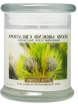 100% All Natural Soy Candle- 12 oz. Status Jar - Pine Cones