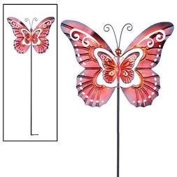 spinning butterfly garden decor yard stake by