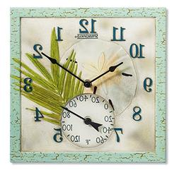 """SPRINGFIELD 92320  12"""" Poly Resin Clock with Thermometer"""