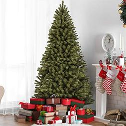 7.5' Premium Spruce Hinged Artificial Christmas Tree W/ Stan