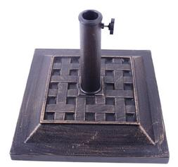 Outsunny Square Decorative Cast Stone Umbrella Holder Base,