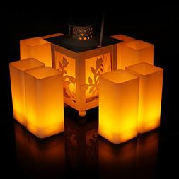 Frestree Romantic Square Flameless LED Candles Battery Opera