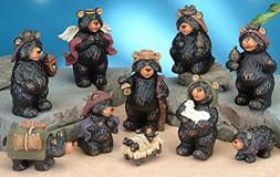 StealStreet SS-UG-PY-3000 Black Bear Religious Nativity Scen
