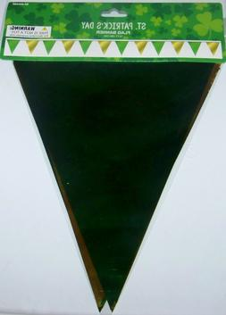 Momentum St. Patrick's Day Decorations - Foil Flag Banner -