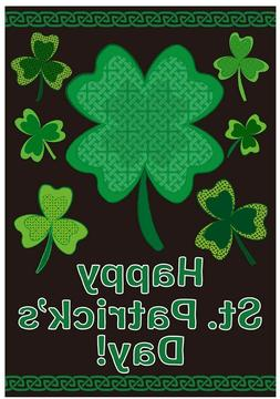 St. Patrick's Day Garden Flag Irish Banner 12x18 2-Sided Hea