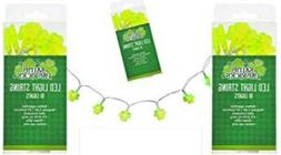 St. Patrick's Day Green LED String Lights in Festive Shamr