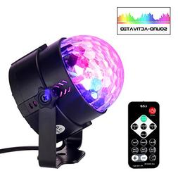 Disco Ball Party Lights, SHINE HAI Portable Strobe DJ Dance