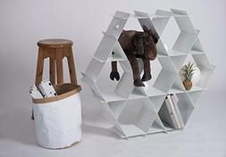 Standing shelf unit, wine rack, bookcase, living room furnit