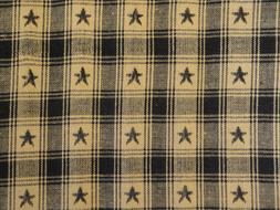 Cotton Plaid Star Fabric | Americana Home Decor Apparel Sewi