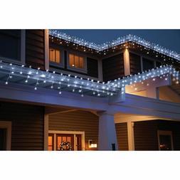 Holiday Time 70-Count LED Star Icicle Christmas Lights, Cool
