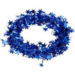 TOOGOO 23 Feet Star Tinsel Garland Christmas Decoration