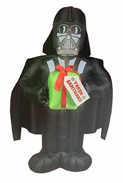 Star Wars 5' LED Christmas Darth Vader Holding Gift Inflatab