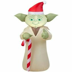 Star Wars Yoda Candy Cane Christmas Inflatable Character Yar