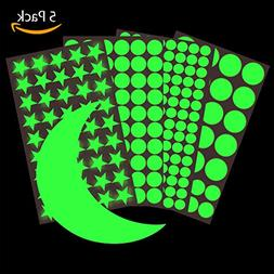 Hibery 5 Pack Starry Wall Stickers, Star Wall Decals, Ceilin