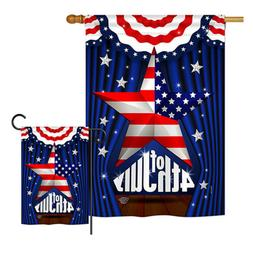 Stars 4th of July-Americana Fourth Memorial Independence Gar