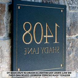 Engraved Stone Address Plaque. These plaques are made from s