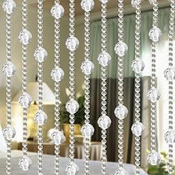 String Curtain, Crystal Bead Fringe Drape Window DIY Wedding
