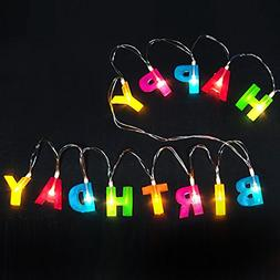 Bright Zeal Multicolor Letter HAPPY BIRTHDAY LED String Ligh