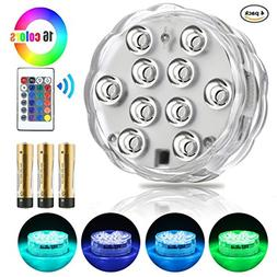 Mouttop Submersible Swimming Pool Led Lights IR Remote 10-LE