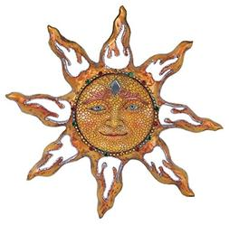 Sun Face Plaque Wall Decor Hanging Deck Patio Yard Porch Gar