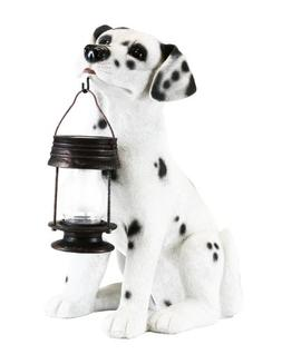 Garden Sun Light B5197 Dalmation Dog With Lantern Solar Ligh