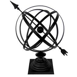 """Sundial Cast Iron 24"""" Armillary Arrow Sphere Garden Decor"""