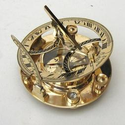 "Brass Compass 5"" Sundial Compass - Marine Collectible Compas"
