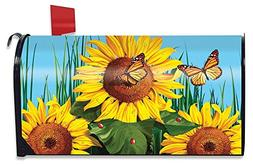 Briarwood Lane Sunflower Field Summer Magnetic Mailbox Cover