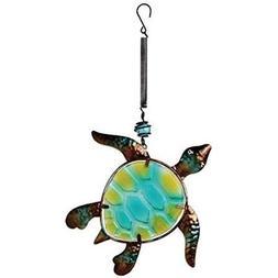 Sunset Vista Designs Metal And Glass Sea Turtle Bouncy Hangi