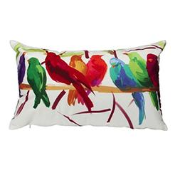 Ikevan Super Soft Rectangle Bird Pattern Pillowcase Throw Pi
