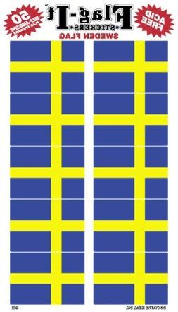 Sweden flag stickers for home or school