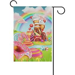 sweet candy land cartoon decorative