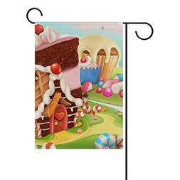 sweet candy land cartoon garden