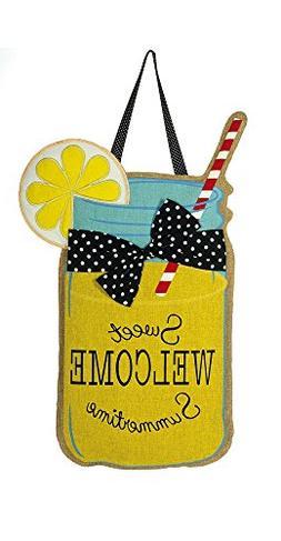 Evergreen Welcome Sweet Summertime Lemonade Hanging Outdoor-