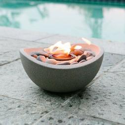 Tabletop Fire Pit Table Fireplace Gel Stone Firepit Decorati