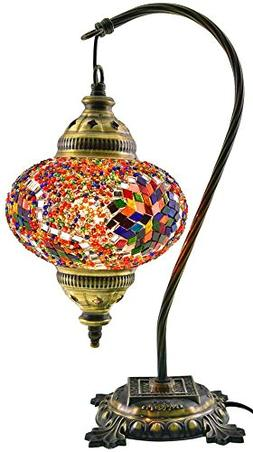Table Lamp,Swan neck,Lamp Shade,Arabian Mosaic Lamps, Morocc